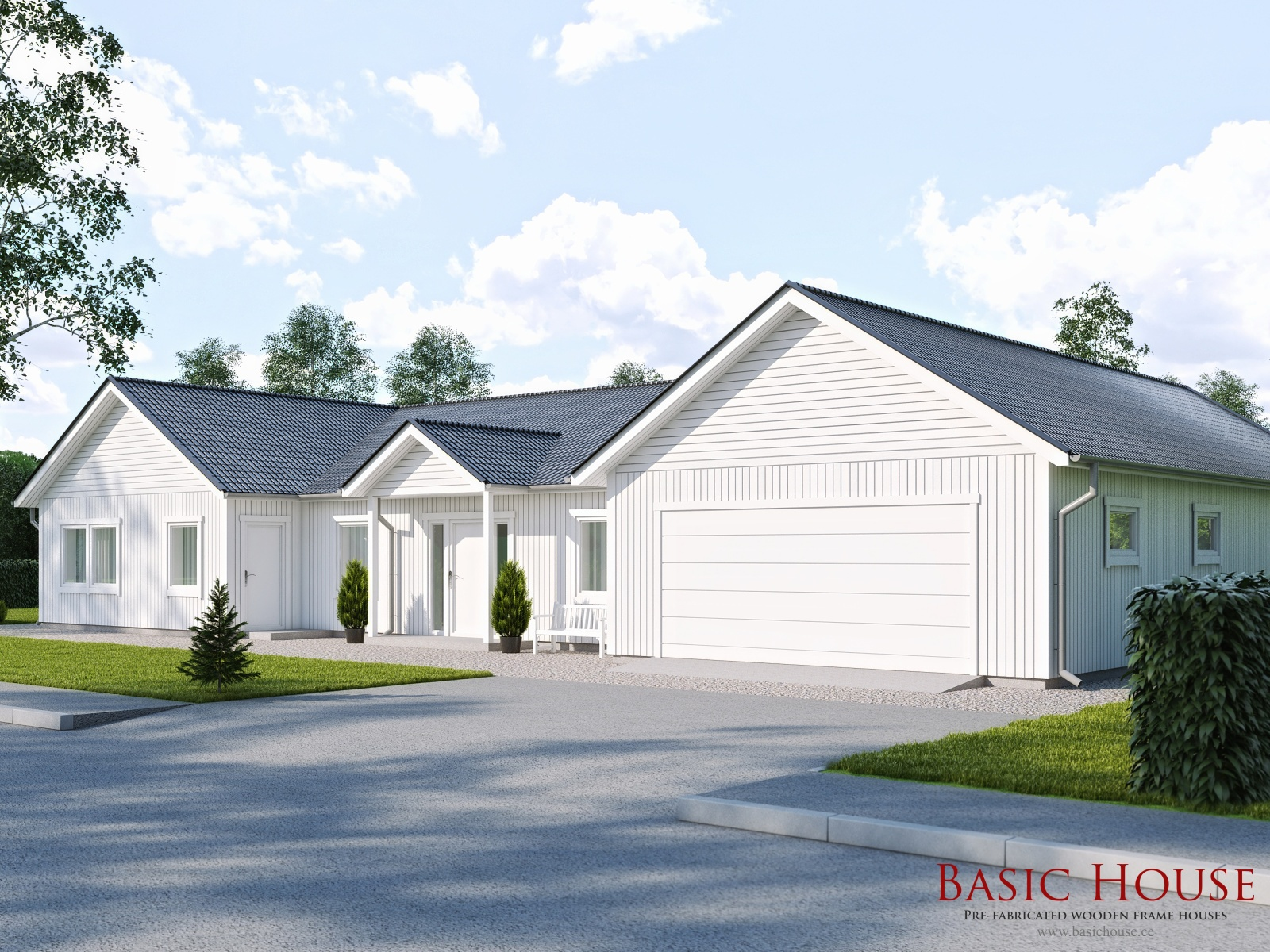Basic House | Pre-fabricated wooden frame houses